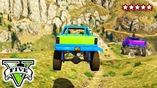 GTA 5 Online | Monster Truck Offroading Challenge | Grand Theft Auto 5 Funny Moments
