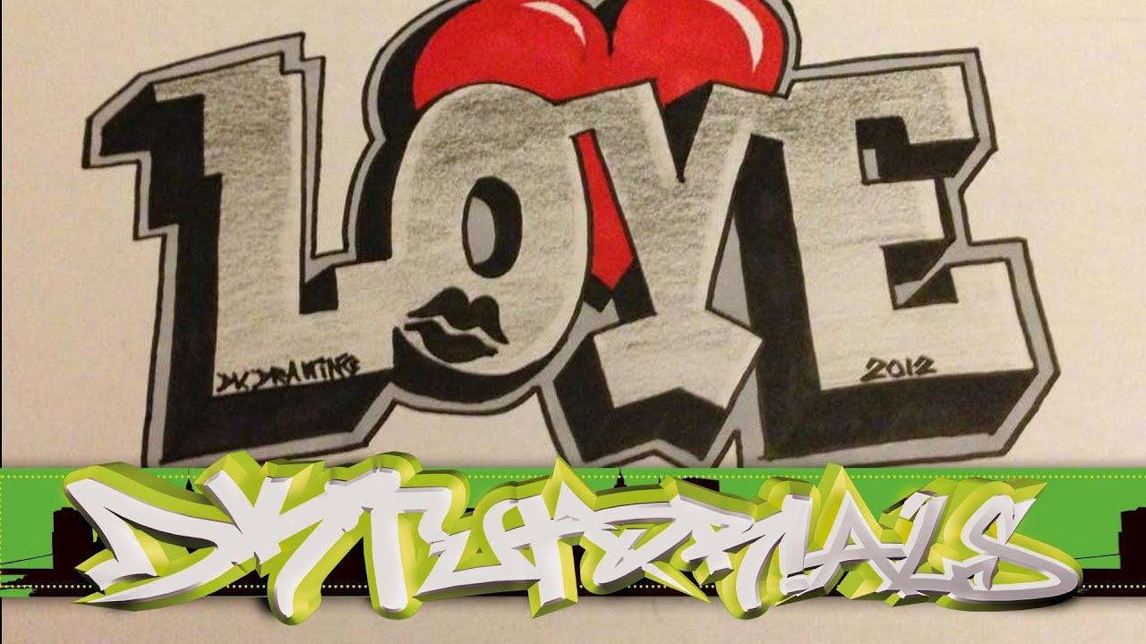 How To Draw Graffiti Love Youtube