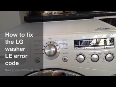 How to fix LG washing machine LE error code - upgraded 6501KW2002A part