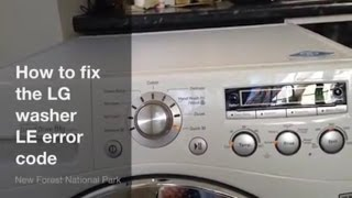 how to fix lg washing machine le error code upgraded 6501kw2002a part