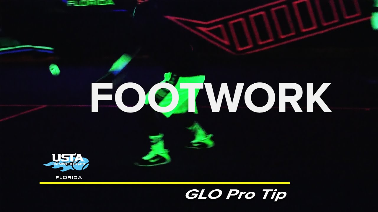 GLO Pro Tip: Basic Footwork On The Forehand - YouTube