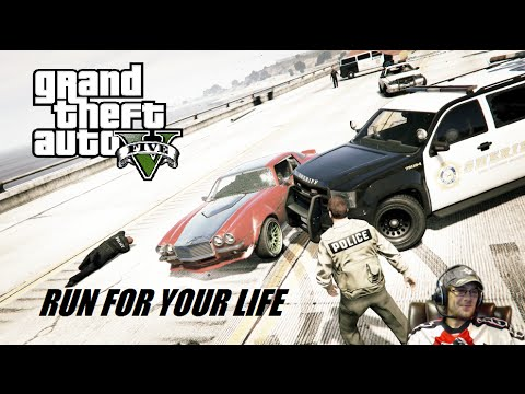 GTA 5 : RUN FOR YOUR LIFE - SURVIVE TO WIN the GTA5 BRIDGE of DEATH - PS4