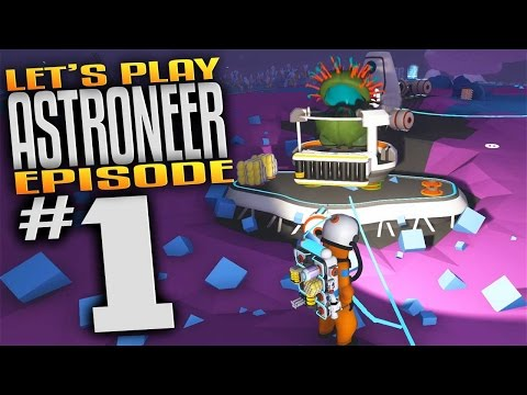 Astroneer Gameplay - Ep 1 - Cave Exploration, Research, & Loot! (Let's Play Astroneer Gameplay)