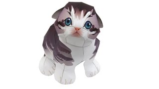 Котенок из бумаги своими руками. Paper models.