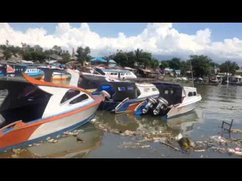 Pelabuhan antar pulau Manado jorok pelabuhan menghubungkan ke Bunaken Siladen Manado tua