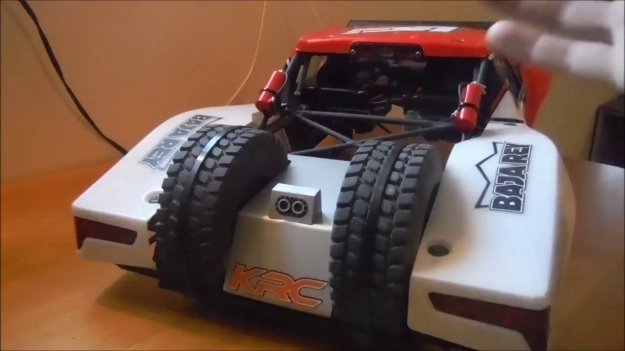 Losi Baja Rey dual spare holder - YouTube