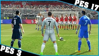 Video CRISTIANO RONALDO free kicks evolution [PES 3 - PES 17] ⚽ download MP3, 3GP, MP4, WEBM, AVI, FLV Desember 2017