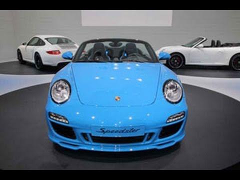 2011 Porsche 911 Speedster Unveil 2010 Paris Auto Show Youtube