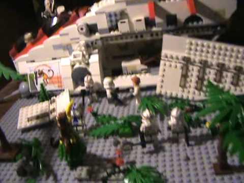 lego star wars gunship crash moc scene youtube. Black Bedroom Furniture Sets. Home Design Ideas