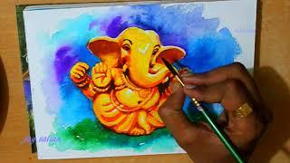 how to draw Ganesha