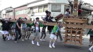 あばれ祭り2011 栄町 キリコ 新町交差点