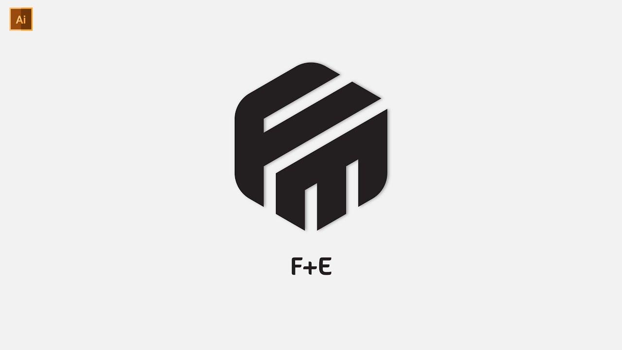 Professional FE Polygon Logo Design In Illustrator   Modern Logo Design    Graphic Hunters