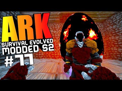 ARK Survival Evolved - OP WARDEN FIGHT, BABY WYVERN EGG & BREEDING, RUDOLF Modded #77 (ARK Gameplay)