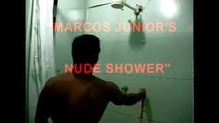 BEST NUDE HOMO-EROTIC SEXY SHOWER SCENE - MARCOS JUNIOR'S REVEALING NAKED SHOWER - WOW!!!