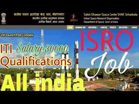 ISRO jobs,Satish Dhawan Space Centre Requirements Techanician-B, ITI pass job,govt job