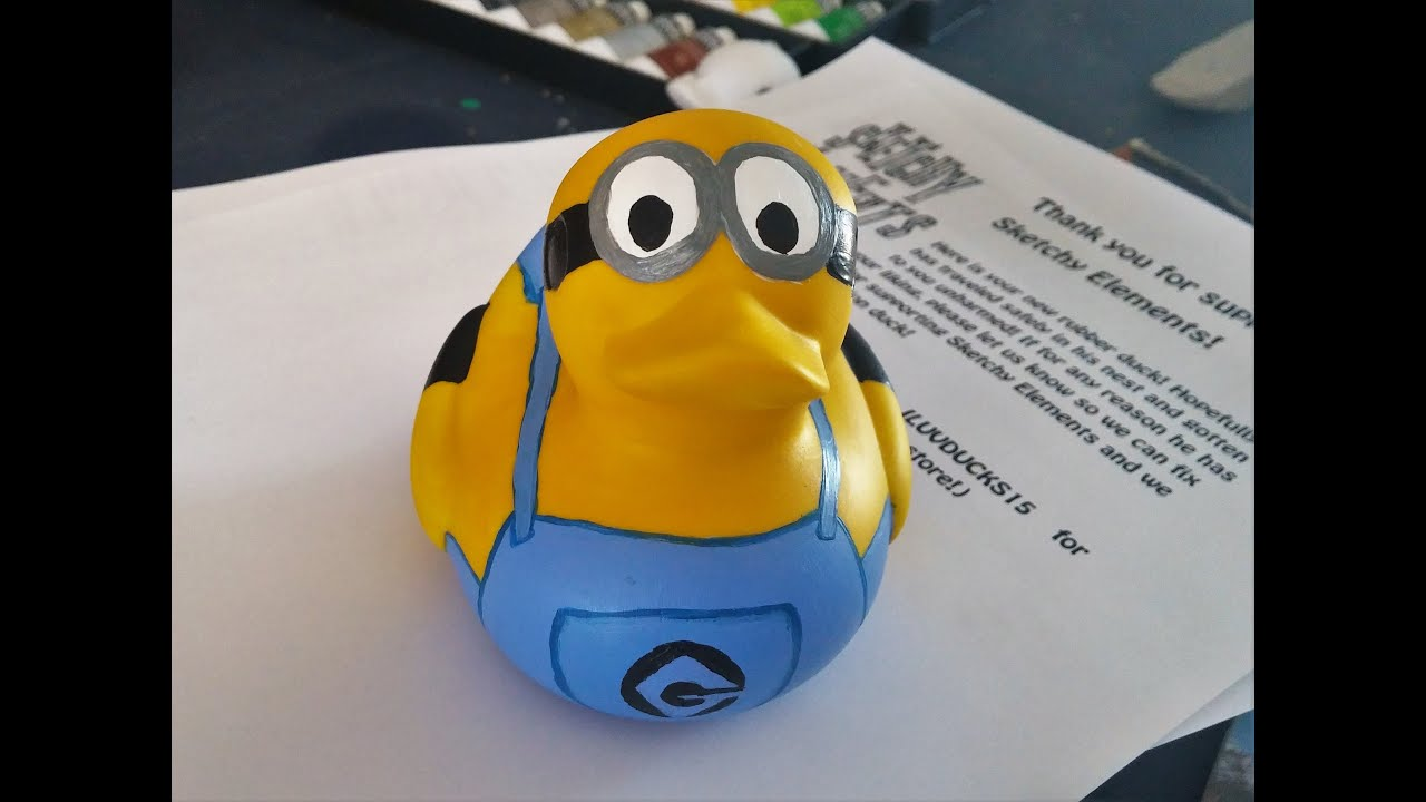 How To Paint A Minion Rubber Duck Youtube