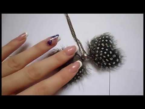 handmade- Украшение из перьев своими руками