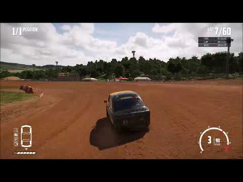 [14.174] [WR] Wreckfest Bloomfield Speedway Dirt Oval C Class Speedrun