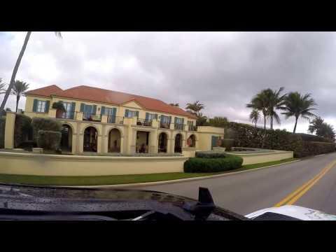 Trump's Mar-a-Lago mansion on the Atlantic.