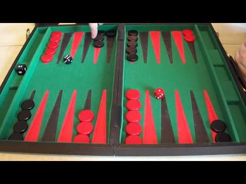 Backgammon for complete beginners.  Part 4 - The opening roll.