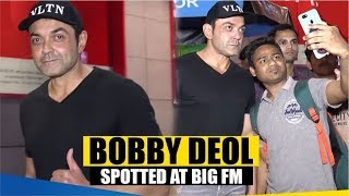 """""""Bobby Deol"""" Spotted At Big FM Office At Andheri   Uncut Video"""