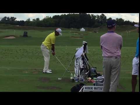 2015 PGA Championship - Hideki Matsuyama at the range
