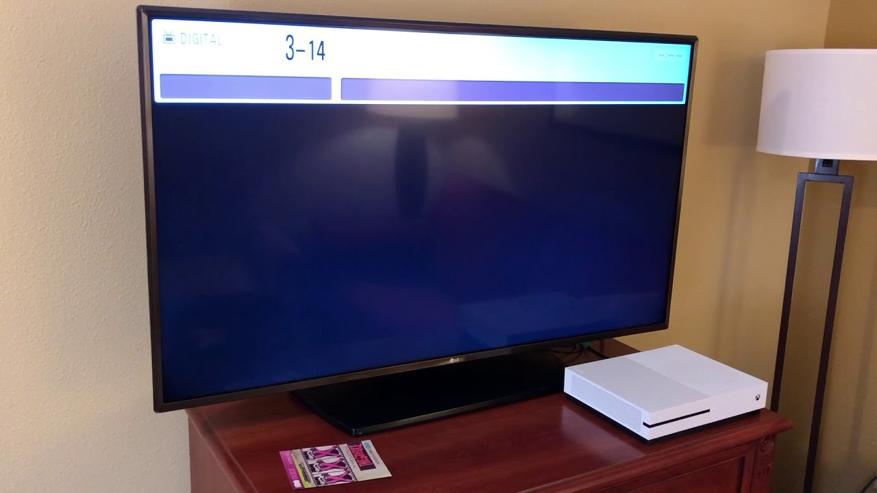 How to access HDMI ports on a LG Commercial TV with no input button