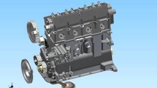 Двигун МЕМЗ - 317 (комп'ютерна модель).avi