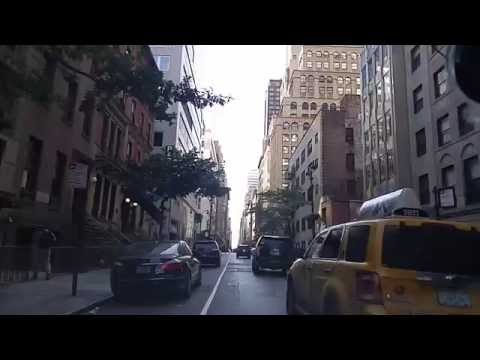 Driving from Midtown East Manhattan to Garment District Manhattan,New York
