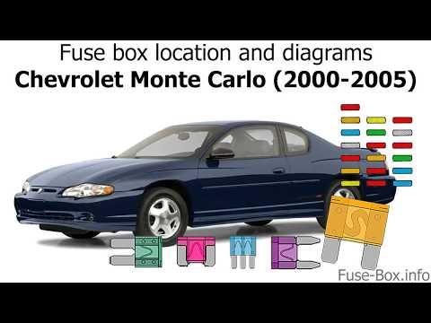 Fuse box location and diagrams: Chevrolet Monte Carlo (2000-2005) - YouTubeYouTube