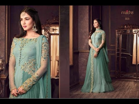 8ae55003ad Latest Indian Dresses Collection 2018 || Maisha-Maskeen-Shayra-5601-5608-Series.  Style Exchange Collection