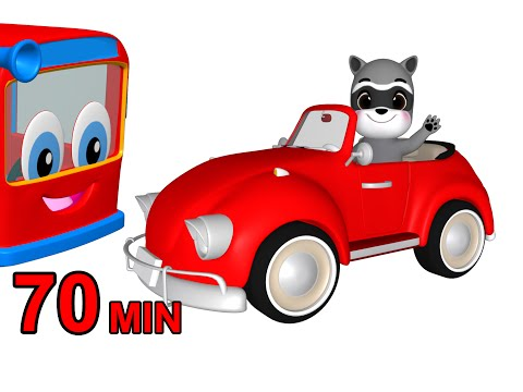 """""""Red Car Songs"""" Colors & More   Colours Songs for Kids   Nursery Rhymes   Children Learning Videos"""