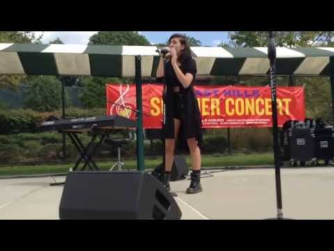 """Christina Grimmie singing """"I Will Always Love You"""" at East Hills"""