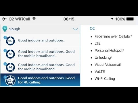 O2 UK 4G Calling (VoLTE) and Native WiFi Calling