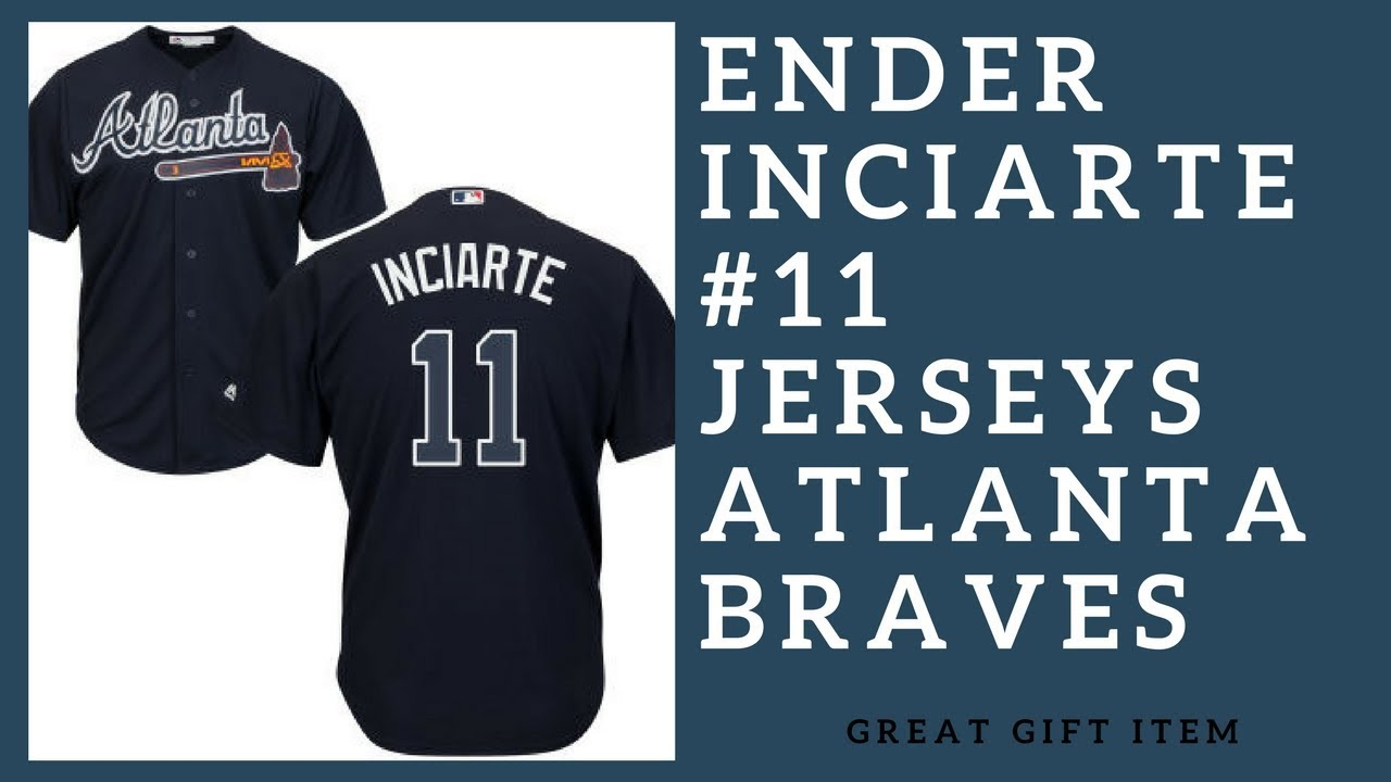 brand new 9ea4a 1b172 Ender Inciarte 11 Atlanta Braves Authentic Jerseys T-Shirts Gift Items  (2018-2019)