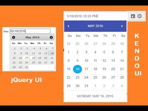 ASP Net MVC Kendo UI (Date Picker & Date Time Picker)