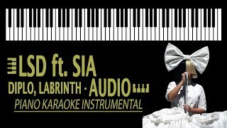 Download Lagu LSD - Audio ft. SIA, Diplo, Labrinth KARAOKE (Piano Instrumental) Mp3