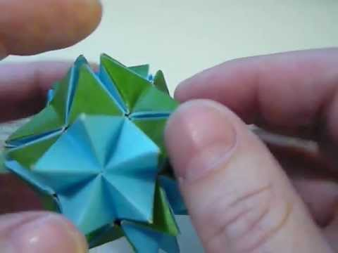 Origami spikey ball pop up star revealed flowerv youtube origami spikey ball pop up star revealed flowerv mightylinksfo