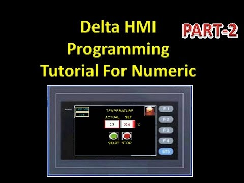 DELTA HMI Programming tutorial for NUMERIC ENTRY ! Part-2 - Лучшие