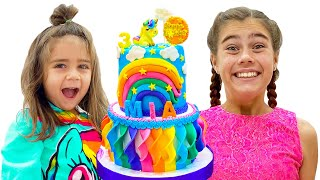 Nastya comemora sua festa de 12 anos com amigos e familiares