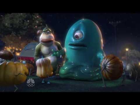 Monsters Vs Aliens - B.O.B communicates with evil aliens on halloween