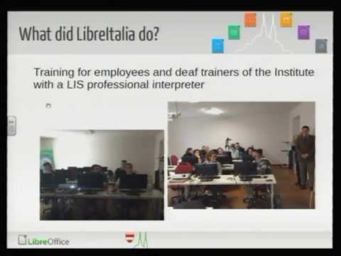 LibreOffice Conference 2016: #LibrexTutti: migration of Public Institute for Deaf in Rome