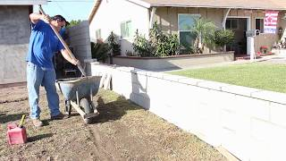 Wie baut man eine block-Mauer