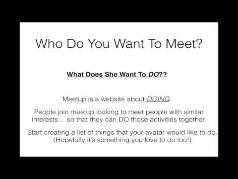 Creating a Meetup Group