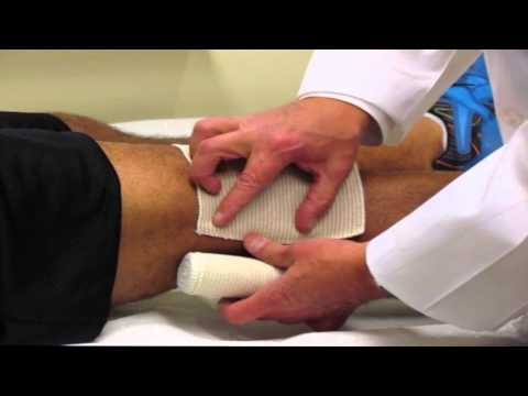 How To Apply An Ace Wrap To Your Knee Ace Wrap Tutorial Youtube