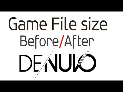 Game files before & after Denuvo was removed