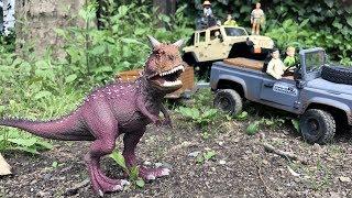 BRUDER Toys JURASSIC SAFARI Jeeps JACK films DINOSAURS and T-REX thumbnail