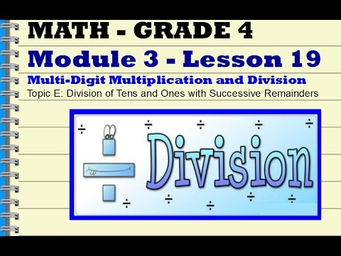 Explain Remainders by using Place Value (examples, videos