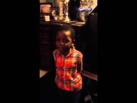 Meet my grandson Allen he was 5 right here..singing ..Martin Luther king ..had a dream