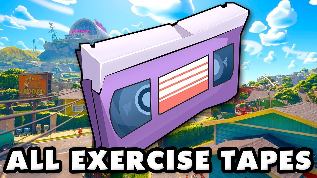 Plants vs  Zombies Battle for Neighborville - All Exercise Tapes! (Town  Center)